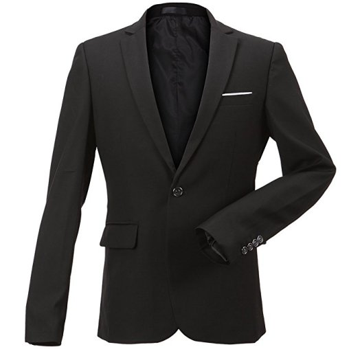 FLY HAWK Men's Slim Suit Jacket Blazer