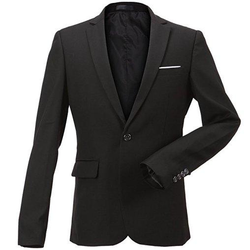 FLY HAWK Men's Slim Suit Jacket Blazer